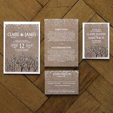 Winter Wedding Save The Date Winter Snow Wedding Invitations And Save The Date By Feel Good