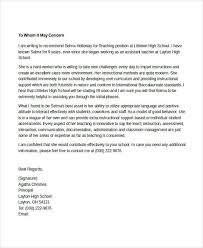 Recommendation Letter For Teaching Position 7 Teacher Reference Letters Free Samples Examples Format