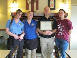 country kitchen receives award from sheridan va com country kitchen manager and staff from left bri caldwell marsha brown manager