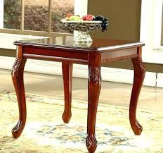 small vintage side table small retro coffee table style solid wood coffee table square corner retro
