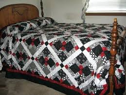 Red And Black Quilt Patterns Red And Black Quilt Kit Red And Black ... & Red And Black Quilts For Sale Red And Black Plaid Quilt Fabric Disappearing  9 Patch Quilt ... Adamdwight.com