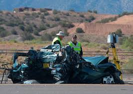 emergency personnel work at the scene of a deadly multi vehicle crash involving a bus that occurred on interstate 25 just north of bernalillo new mexico