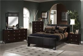 Bedroom Decor With Dark Brown Furniture Home Attractive