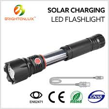 BABALI Hand Crank Solar Powered Flashlight LED Portable Dynamo Solar Powered Torch Lights