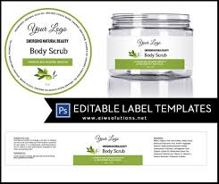 Package Label Template Beauteous Olive Jar Label Template 448oz Label 48oz Label Template Skin Etsy