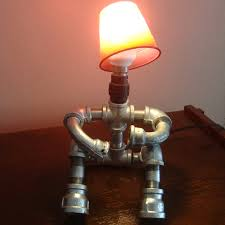 diy pipe lighting. Galvanised Pipe Men Table Lamps Sitting Down With Arms Bent Diy Lighting