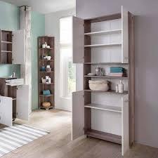 Badezimmer Hochschrank In Weiß Eiche 4 Türig Exklusive Möbel