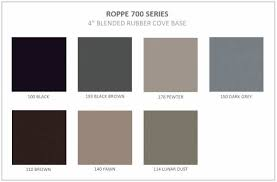 Roppe 700 Series Wall Base Color Chart 700 Series Blended Rubber Cove Base Centura London And Windsor