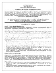Security Engineer Resume Sample Delighted Senior Systems Engineer Resume Sample Gallery Entry 5