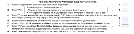 Adjust Your Payroll Withholding with Form W 4   Accounting furthermore Basic Explanation of W 4 tax Form   Personal Allowance Worksheet E together with Figuring Out Your Form W 4  How Many Allowances Should You Claim likewise  together with W4 Form additionally CA DE 4   Withholding Tax   In e Tax In The United States likewise UNF   Controller   MyWings W4 Tax Form moreover How to Fill Out a W‐4  with Pictures    wikiHow also  as well  as well . on w 4 personal allowances worksheet