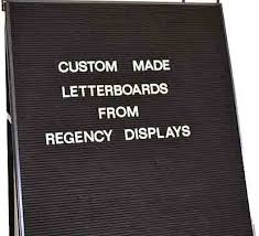Grooved Felt Letterboard and Menuboards - Changeable Numbers and ...
