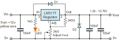 variable voltage power supply using the lm317t variable voltage power supply circuit