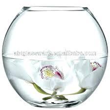 bowl large glass fish fishbowl vase with cover uk