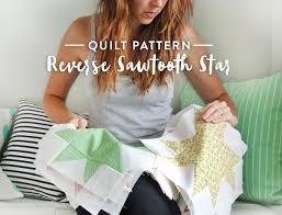 Reverse Sawtooth Star Quilt Pattern - Suzy Quilts &  Adamdwight.com