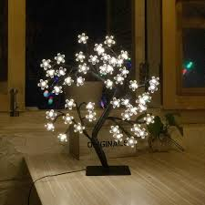 Cherry Blossom Christmas Lights Led Cherry Blossom Light Tree 19 6 Inch Tabletop 48 Leds Bonsai Tree Light Black Branches Clear Flower Perfect For Home Festival Christmas Party