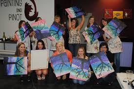 painting and pinot is perfect for birthday parties corporate events bachelorette parties bridal and baby showers anniversary parties team building