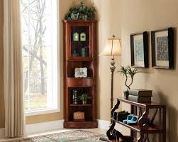 Living Room Amazing Accent Cabinet For Ideas With Corner Cabinets Images  Beautiful Curio Decoration Brown Lacquered Wood Metal
