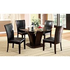 dining room inspiring round glass dining set for top rooms to go dels rooms to go