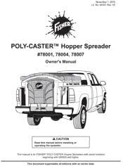 fisher salt spreader documents fisher poly caster 2 owners manual