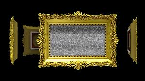 black ornate frame png. Ornate Gold Picture Frames Rotate In A Circle On Black Background. Seamless Loop, 3D Animation With Tv Noise And Green Screen. Frame Png