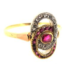 antique ruby diamond ring