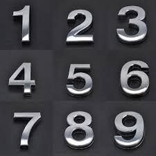 chrome 3 2 door numbers house numerals home self adhesive digit plaques sign