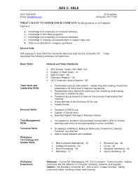 Resume For Computer Job Computer Operator Resume Therpgmovie 4