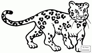 Leopard Color Coloring Pages Print Coloring