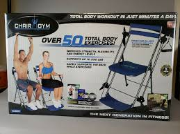 Chair Gym Exercise Chart Emson Chair Gym Total Body Workout As Seen On Tv Over 50 Workouts New