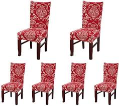 SoulFeel Set of 6 x Stretchable Dining Chair Covers ... - Amazon.com