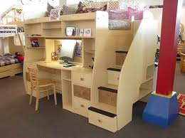 image of loft bunk beds with desk