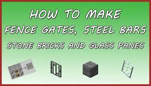 minecraft fence gate. Fence Gate Cobblestone Recipe Astonishing Minecraft How To Make Steel Bars Stone Bricks