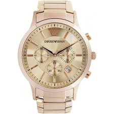 armani watches for from tic watches uk mens womens ar2452 mens rose gold classic watch