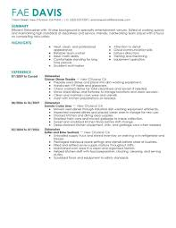 Sample Dishwasher Resume Sample Dishwasher Resume ...