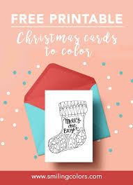 Printable art christmas cards by canva. Printable Christmas Cards To Color Free To Download Now