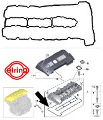 sentinel bmw e90 e60 325i 330i n53 only rocker cover gasket 740 290 bmw 11127544368