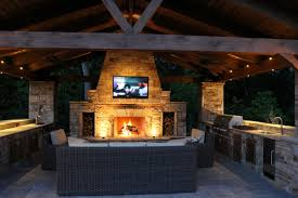 Outdoor Kitchen Fireplace L Shaped Outdoor Kitchen Ideas Outdoor Kitchens Ideas Pictures