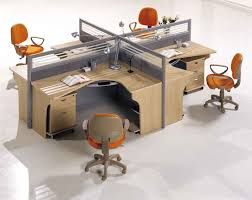 office design for small space. small space for office room witth l shaped broken white stained with design