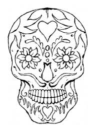 Small Picture Day Of The Dead Skull Coloring Pages Printable Coloring Pages