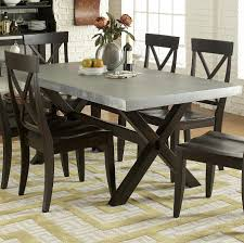 Image of: Zinc Top Dining Table Sets