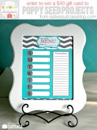 one week menu planner blogiversary week dry erase menu weekly planner my sister s