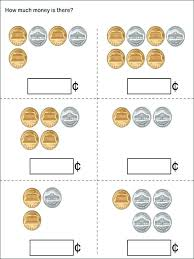Money Coins And Bills 1 Free Counting Pennies Worksheets For ...