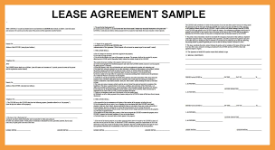 Format Of Lease Agreement 24 Sample Lease Agreement Resume Pdf 1
