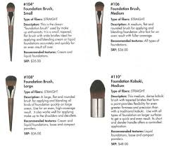 some of the brushes from the 100 collection