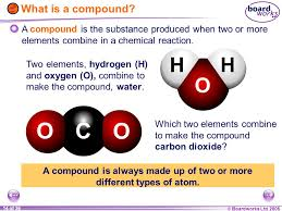 a pound is always made up of two or more diffe types of atom 15 making a pound carbon dioxide