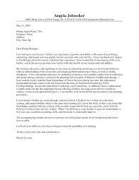 Sample Cover Letter For Counselor The Letter Sample