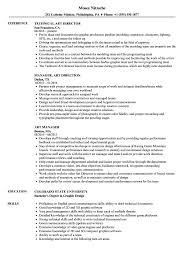 Art Resume Samples Velvet Jobs