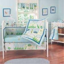 baby boy baby bedding sets modern jungle theme with cool aqua wall nursery theme paint