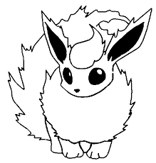 Small Picture Coloring Pages Pokemon Flareon Drawings Pokemon