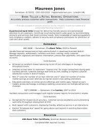 Resume For Teller Position Resume Bank Teller Resume Sample For Job With No Experience